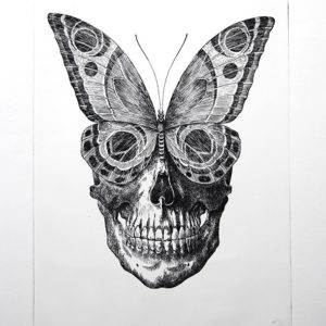 Otto D'Ambra, BEHIND THE BEAUTY, Etching on paper, Limited edition of 15, 35x50cm
